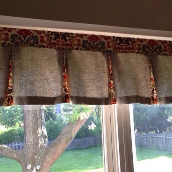 Two Lined Custom Box Pleat Valances With By