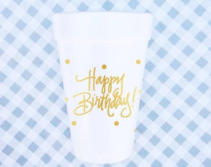 Happy Birthday - Foam Cups (Qty 24)
