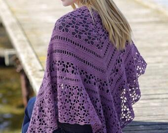 Crochet shawl, MANY COLORS AVAILABLE! Crochet wrap, alpaca and silk shawl, crochet shawl, hand made shawl, alpaca shawl, wrap, crochet wrap.