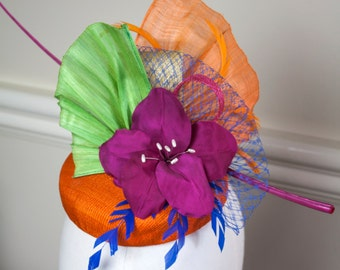 Collette Race Fascinator, Race Hat, Melbourne Cup Hats, Spring Racing Hats, Fascinator, Race Headwear
