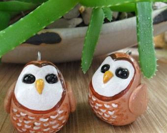 Owl Christmas Tree Ornament - Christmas Tree Decoration - Handmade Clay Owl