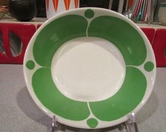 Vintage Arabia Finland SUNNUNTAI rare Green Bowl