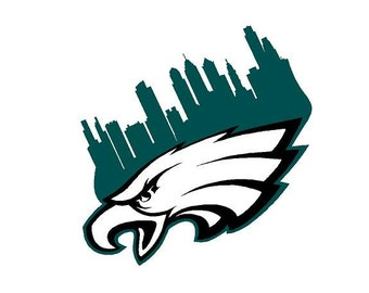 Eagles Skyline Decal