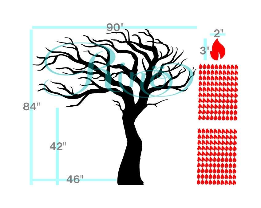 ... Vinyl Decals   Tree Bedroom Decal   Tree Leaves Decor. 1 Part 77