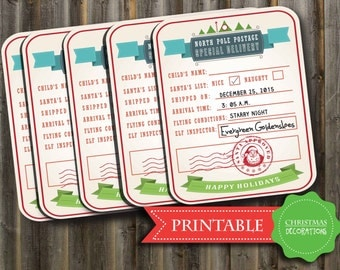 North Pole gift tags - Special Delivery Christmas tags 2015 - PRINTABLE PDF