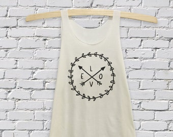 L.O.V.E Tanks Top printed Women's size S-L