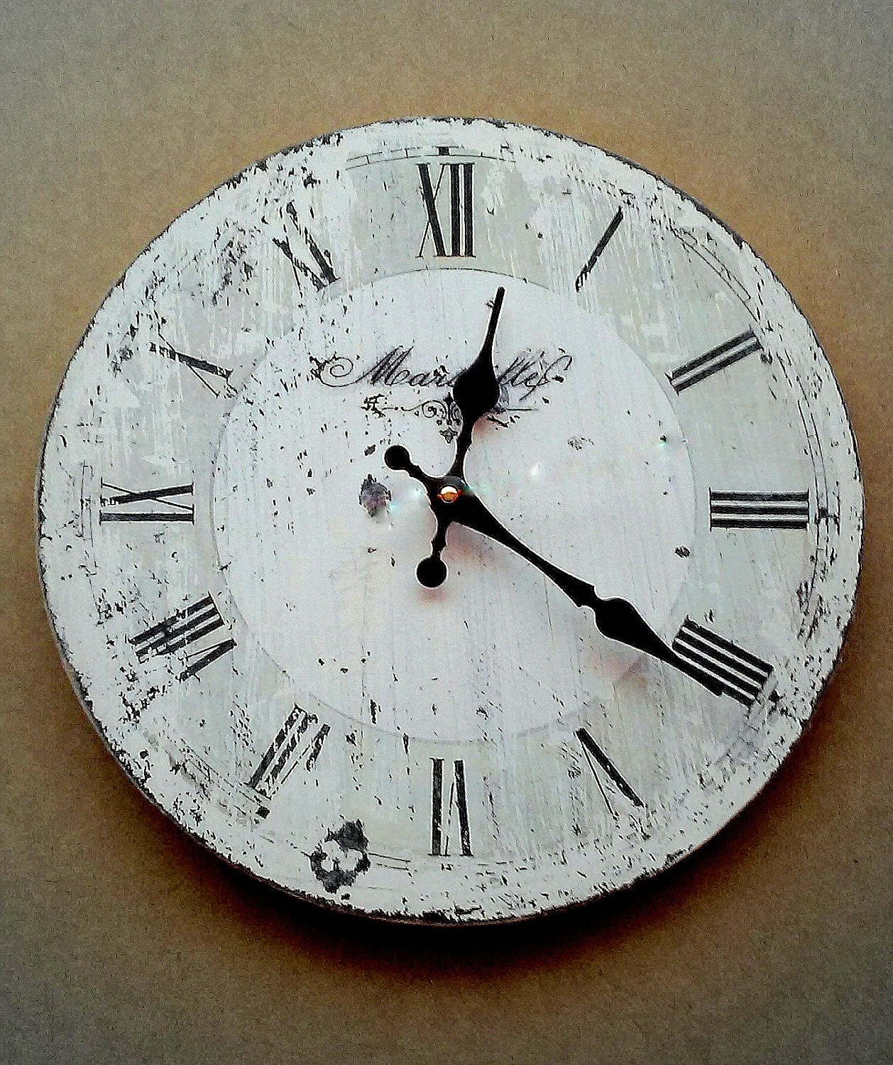 Rustic Distressed Wall Clock