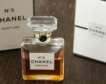 CHANEL no 5 1970's Vintage SEALED Perfume Extrait 10 ml 1 / 3 oz