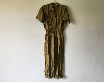 FREE SHIPPING - Vintage 80s Jumpsuit, One Piece Romper