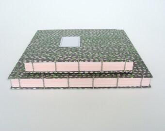 Set van twee vierkante Fotoalbums Koptische Binding MEDIUM en LARGE