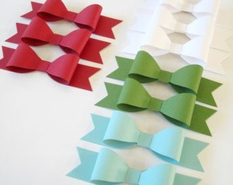 Set of 10 DIY Christmas Paper Gift Bows