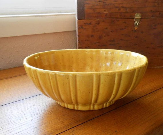 Haeger Spicey Mustard Pottery Planter, Succulent Planter or Vase USA