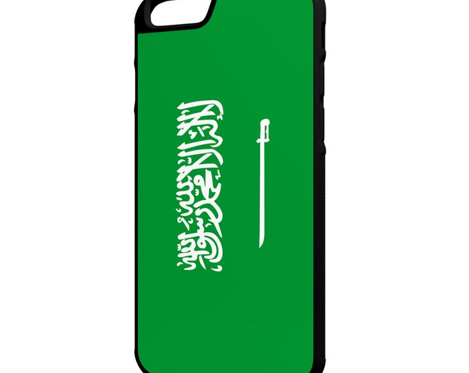 Saudia Arabia Flag iPhone Galaxy Note LG G4 Hybrid Rubber Protective Case