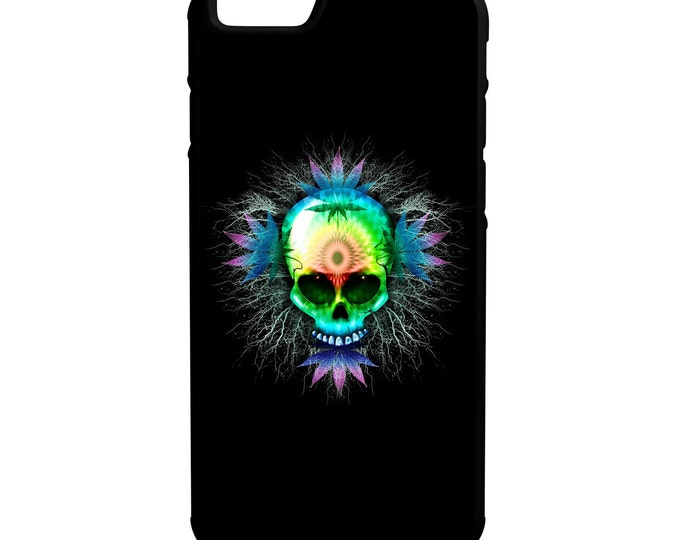 Weed Skull iPhone Galaxy Note LG HTC Hybrid Rubber Protective Case