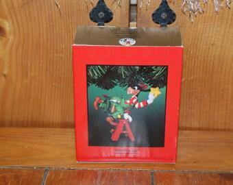 "Vintage Enesco ""Goofed Up"" Christmas / Holiday Ornament"