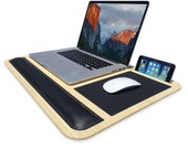 Comfy Lite LapDesk | iSkelter | Your Universal Lap Desk | Features Phone + Tablet Dock, Wrist Pad, Mousepad, Laptop Heat Protection