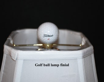 Handcrafted Golf Ball Lamp Shade Finial made from real Golf Ball