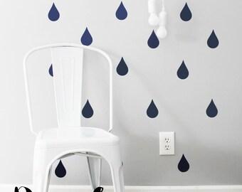 "Wall Stickers - 4"" Rain Drop - Set of 30"