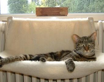cat hammock for column radiators   specify fleece colour from other listings     from cat radiator hammock   etsy  rh   etsy
