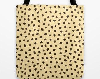 Cheetah Tote Bag - Totebag - Tote Bag - Book Bags for Girls - Girls Tote Bag - Market Bag - Animal Print - Gift Ideas for Girls - Gifts
