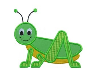 Grasshopper Applique Machine Embroidery Digital Design Critter Bug Locust Cricket Jimmy