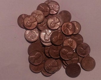Nice Roll of 1957 Wheat Pennies from Long Held Collection
