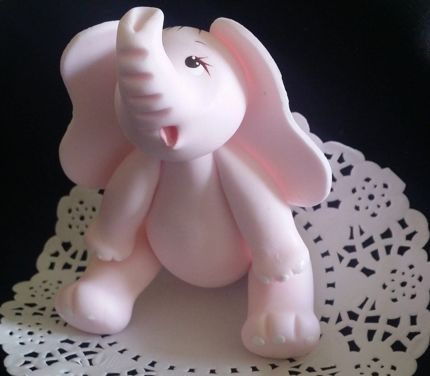 Baby Elephant Cake Topper Baby Shower Elephant Cake Topper