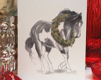 Paint Mustang Holiday Card