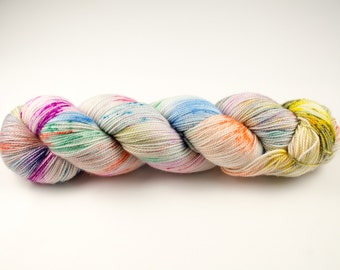 Hand Dyed 100% Merino SW Fingering Weight Yarn - 2ply High Twist - 100 grams - 366m/400yards - Every Flavour Beans
