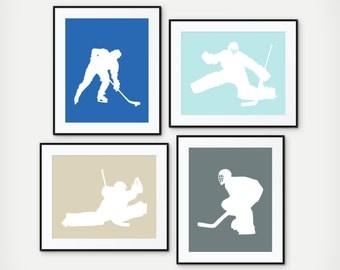 Ice Hockey Art - Ice Hockey Player - Boys Ice Hockey Bedroom Decor - Boy Sports Decor - Ice Hockey Print - Teen Room - Kid Room