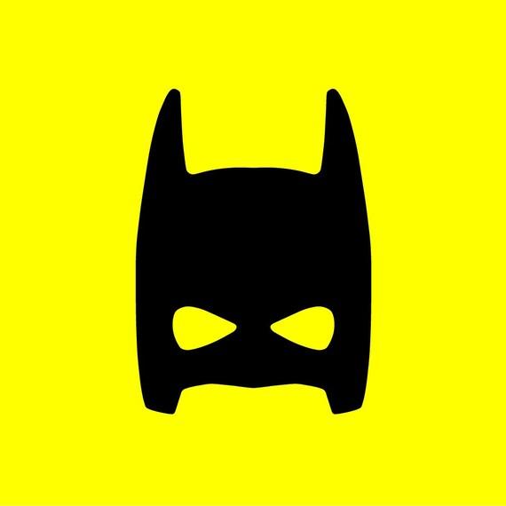 Superhero Wall Decals Bat Mask Decal Bat Kid Decor - Superhero wall decalssuper hero wall art etsy