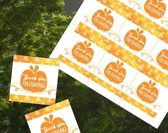 Thanksgiving Tag, Thank you for coming, Thanksgiving Thank you tag, Thanksgiving label, Thanksgiving Printable Sticker, 1st birthday party,