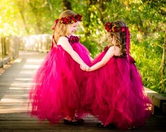 Burgundy Flower Girl Dress, OTHER COLORS AVAILABLE! Cranberry Flower Girl Dress, Flower Girl Tutu Dress, Infant Flower Girl Dress