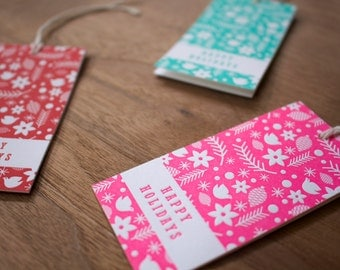 holiday icons - gift tags