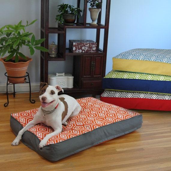 EZ Living Home Honeycomb Pillow Bed Tangerine