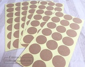 84 Blank Plain kraft label stickers_1.1inch(3cm)_good for Drawing, Scrapbooking, Stamping_DIY label stickers