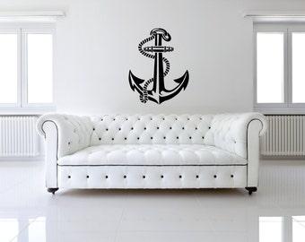 Sea Ocean Anchor Removable Wall Decor Decal Vinyl Sticker
