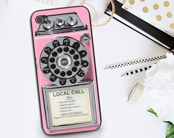 Vintage Telephone Phone Case - iPhone 6 Retro Pink Phone Case - Rotary Pay Phone iPhone 6s Case