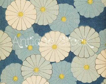 Blue and White Floral Japanese Digital Paper for Scrapbooking, Cards, Invitations, Tags, Stickers, Prints...