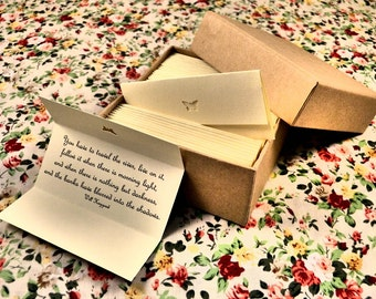 Thinking of You Quotes - Sympathy Quotes - Supportive Quotes - Box of 50 Handmade Quotations