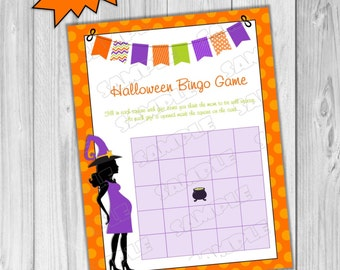 halloween baby shower games bingo game printable instant download