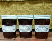 Small Batch Handmade B&P's Classic Jam Gift Box - Our Top 3 Best Selling Jams - Raspberry, Strawberry, Strawberry Rhubarb