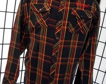 Coogi men's plaid long sleeve button shirt 5xl xxxxxl