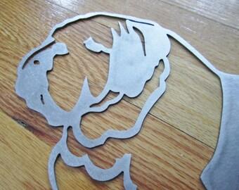 Metal Bulldog Wall Hanging or Yard Art