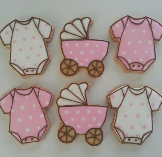 baby shower cookies baby girl shower favor cookies 1 dozen by