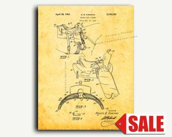 Patent Art - Horse Saddle Patent Wall Art Print