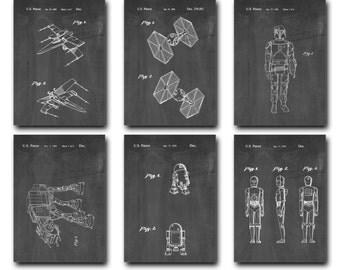 Star Wars Patent Print Set of 6 - Patent Art Poster - 1