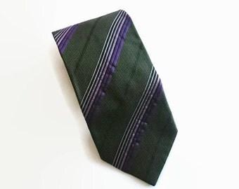 Vintage necktie, Westbury necktie, green necktie, Westbury tie, striped necktie, striped tie, C&A Westbury tie, tie for men, mens necktie