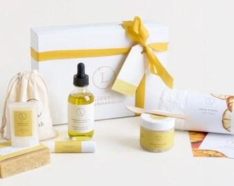 Relaxation Gift Spa in a box - Natural Soap, Bath Bomb, Lip Balm, Bridesmaid gift set, Birthday spa gift,Birthday gift for her,Gift for mom