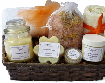 Spa Gift For Mom, New mom gift,Pregnancy Gift Set,Mom to be Spa Gift Set with Natural Shea butter cream,Lip Balm,Soap and bath salt Gift Set